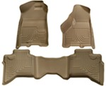 Husky Liners WeatherBeater Custom Auto Floor Liners - Front and Rear - Tan