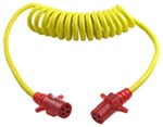 Hopkins Heavy-Duty Trailer Coiled Extension - 4-Pole Round - with Nite-Glow