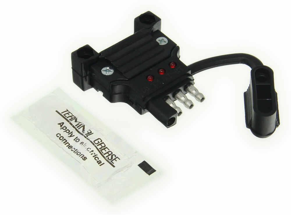 Hopkins Endurance Quick-fix Replacement 4-way Flat Trailer Connector W Led Test Lights