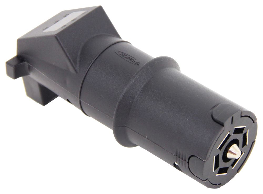 7 Blade Trailer Plug >> Hopkins 7-Way RV Style Trailer Connector w/ LED Test Lights - Trailer End Hopkins Wiring HM48503