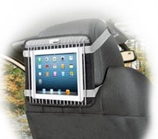 tablet on headrest