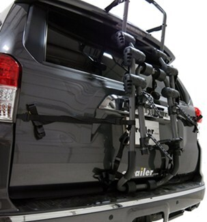 Hollywood Racks Over-the-Top Bike Rack Folded Up on Vehicle
