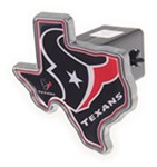 "Houston Texans 2"" NFL Trailer Hitch Receiver Cover - Texas Shape - Zinc"