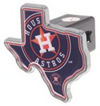 "Houston Astros 2"" MLB Trailer Hitch Receiver Cover - Texas Shape - Zinc"