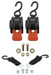 CargoBuckle Mini G3 Retractable, Ratcheting Tie-Down Straps w S-Hooks - 1,400 lbs - Qty 2