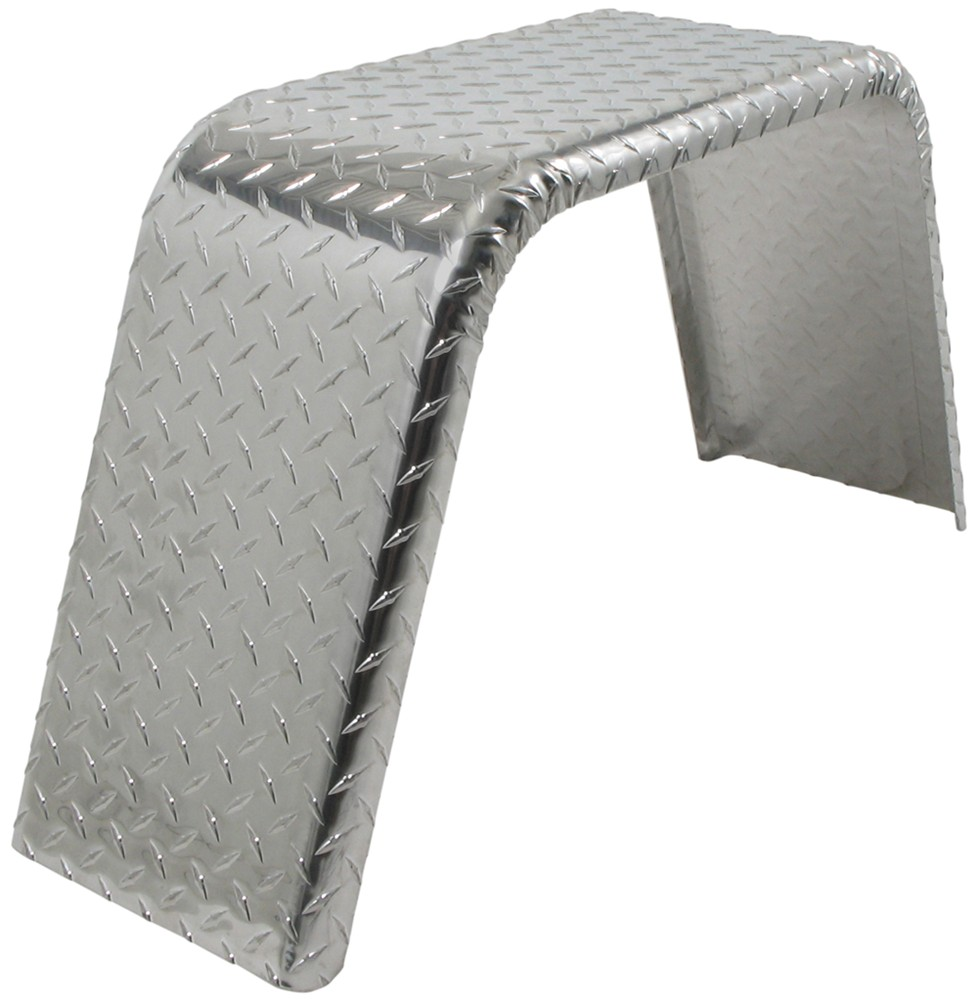 Aluminum Trailer Fenders : Single axle trailer fender jeep style aluminum tread