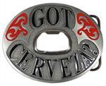 Got Cerveza? Bottle Opener Belt Buckle