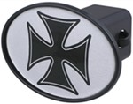 "Maltese Cross 2"" Trailer Hitch Receiver Cover"