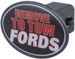 "Remove to Tow Fords 2"" Trailer Hitch Receiver Cover"