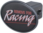 "Remove for Racing 2"" Trailer Hitch Receiver Cover"