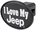 "I Love My Jeep 2"" Trailer Hitch Receiver Cover"