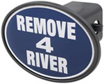 "Remove 4 River 2"" Trailer Hitch Receiver Cover"