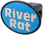 "River Rat 2"" Trailer Hitch Receiver Cover"