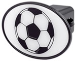 "Soccer Ball 2"" Trailer Hitch Receiver Cover"