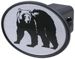 "Black Bear 2"" Trailer Hitch Receiver Cover"