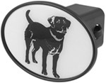 "Black Lab 2"" Trailer Hitch Receiver Cover"