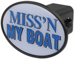 "Miss'n My Boat 2"" Trailer Hitch Receiver Cover"