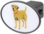 "Yellow Lab 2"" Trailer Hitch Receiver Cover"