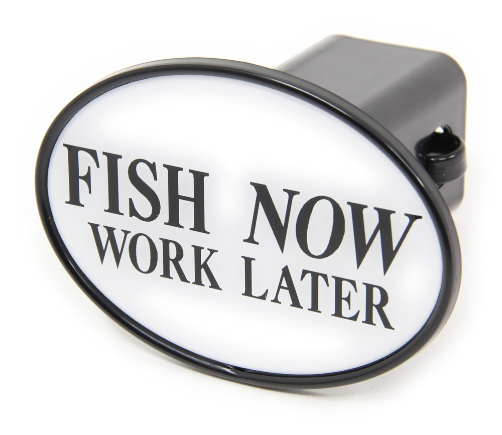 Fish now work later 2 trailer hitch receiver cover for Fish hitch cover