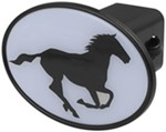 "Horse Running 2"" Trailer Hitch Receiver Cover"