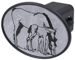 "Horse with Colt 2"" Trailer Hitch Receiver Cover"