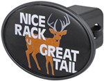 "Nice Rack Great Tail 2"" Trailer Hitch Receiver Cover"