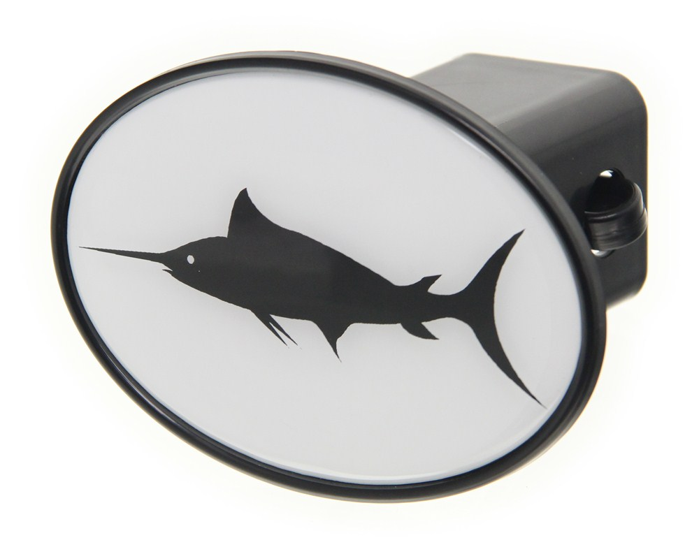 Swordfish 2 trailer hitch receiver cover knockout hitch for Fish hitch cover