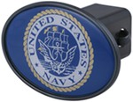 "Navy 2"" Trailer Hitch Receiver Cover"