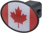"Canadian Flag 2"" Trailer Hitch Receiver Cover"