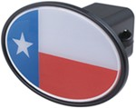 "Texas Flag 2"" Trailer Hitch Receiver Cover"