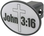"John 3:16 2"" Trailer Hitch Receiver Cover"