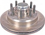 "Kodiak 13"" XL-Lube Hub and Rotor - 8 on 6-1/2 - Raw Finish - 5/8"" Bolts - 8,000 lbs"