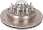 "Kodiak 13"" XL-Lube Hub and Rotor - 8 on 6-1/2 - Raw Finish - 9/16"" Bolts - 8,000 lbs"