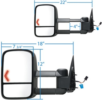 Ksource Custom Extendable Towing Mirrors Electricheat W Led. Ksource Custom Extendable Towing Mirrors Electricheat W Led Signal Textured Black Pair K Source Ks6207576g. Chevrolet. 2002 Chevy Tahoe Mirror Parts Diagram At Scoala.co