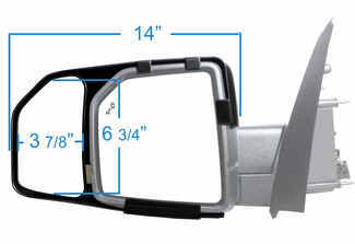 K-Source Snap-On Mirror for Ford F150