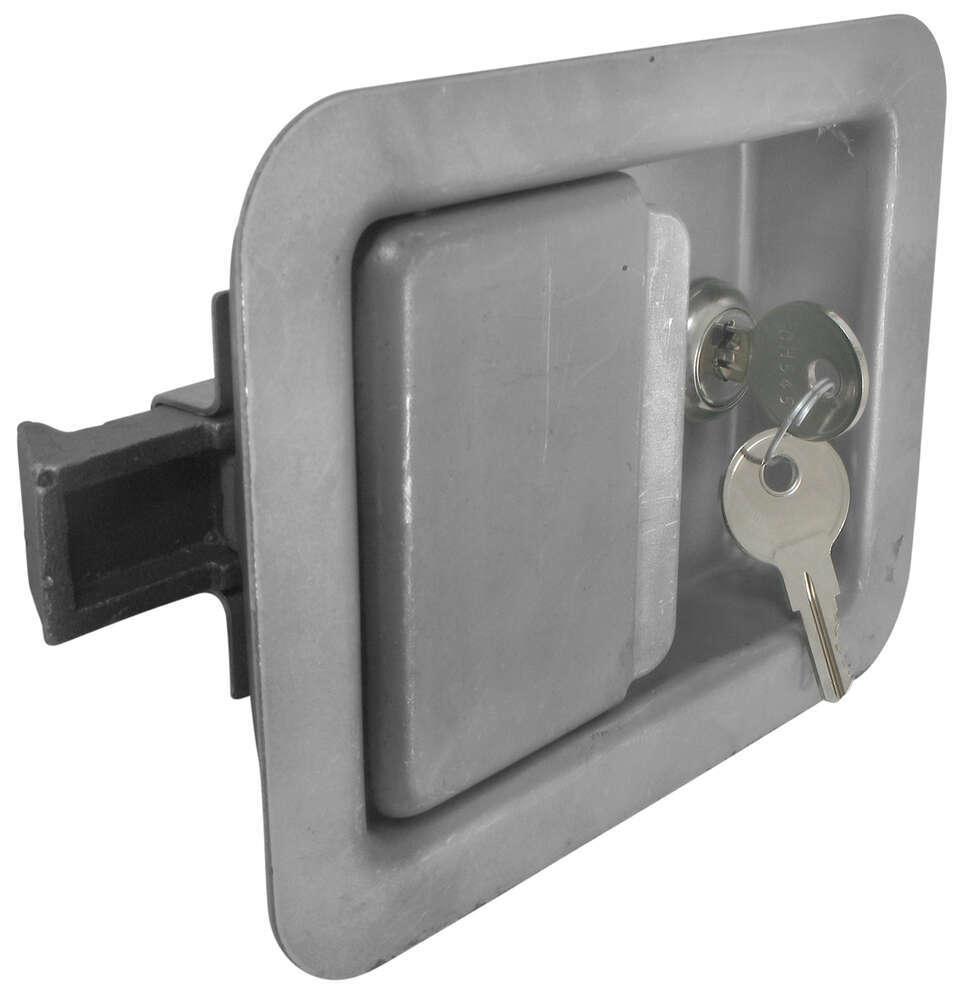 Full size locking steel flush door latch redline enclosed for Door lock latch