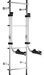 Stromberg Carlson Lawn Chair Rack for RVs - 4 Chair - Ladder Mount - Aluminum
