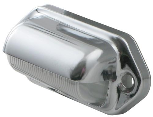 led mini trailer license plate light 2 diode chrome. Black Bedroom Furniture Sets. Home Design Ideas