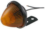 Beehive Side Marker and Clearance Light w/ Mounting Bracket, 1 Wire - Amber