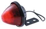 Beehive Side Marker and Clearance Light w/ Mounting Bracket, 1 Wire - Red