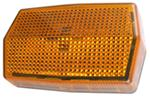 Rectangular Side Marker or Clearance Light w/ Reflectorized Lens - Amber