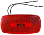 Rectangular Trailer Clearance, Side Marker Light with Reflector - Red