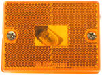 Square Trailer Clearance and Side Marker Light with Reflex Reflector - Amber