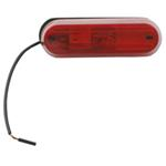Oblong Trailer Clearance, Side Marker Light, 1 Wire - Red