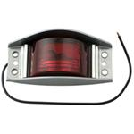Sealed, Steel Armored Trailer Clearance and Side Marker Light - Red