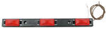 Sealed, 3-Light Truck and Trailer Identification Light Bar with Black Base - Red