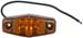 Sealed, Mini LED Side Marker, Clearance or Identification Light, 1 Wire, 2 Diode - Amber