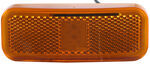 Rectangular LED Trailer Clearance, Side Marker Light with Reflector, 2 Wire, 6 Diode - Amber