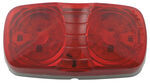 Double Bullseye LED Trailer Clearance and Side Marker Light, 2 Wire, 6 Diode - Red