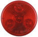 "LED Trailer Clearance/Side Marker Light - 4 Diode, 24 Volts - Sealed - 2"" Round - Red"